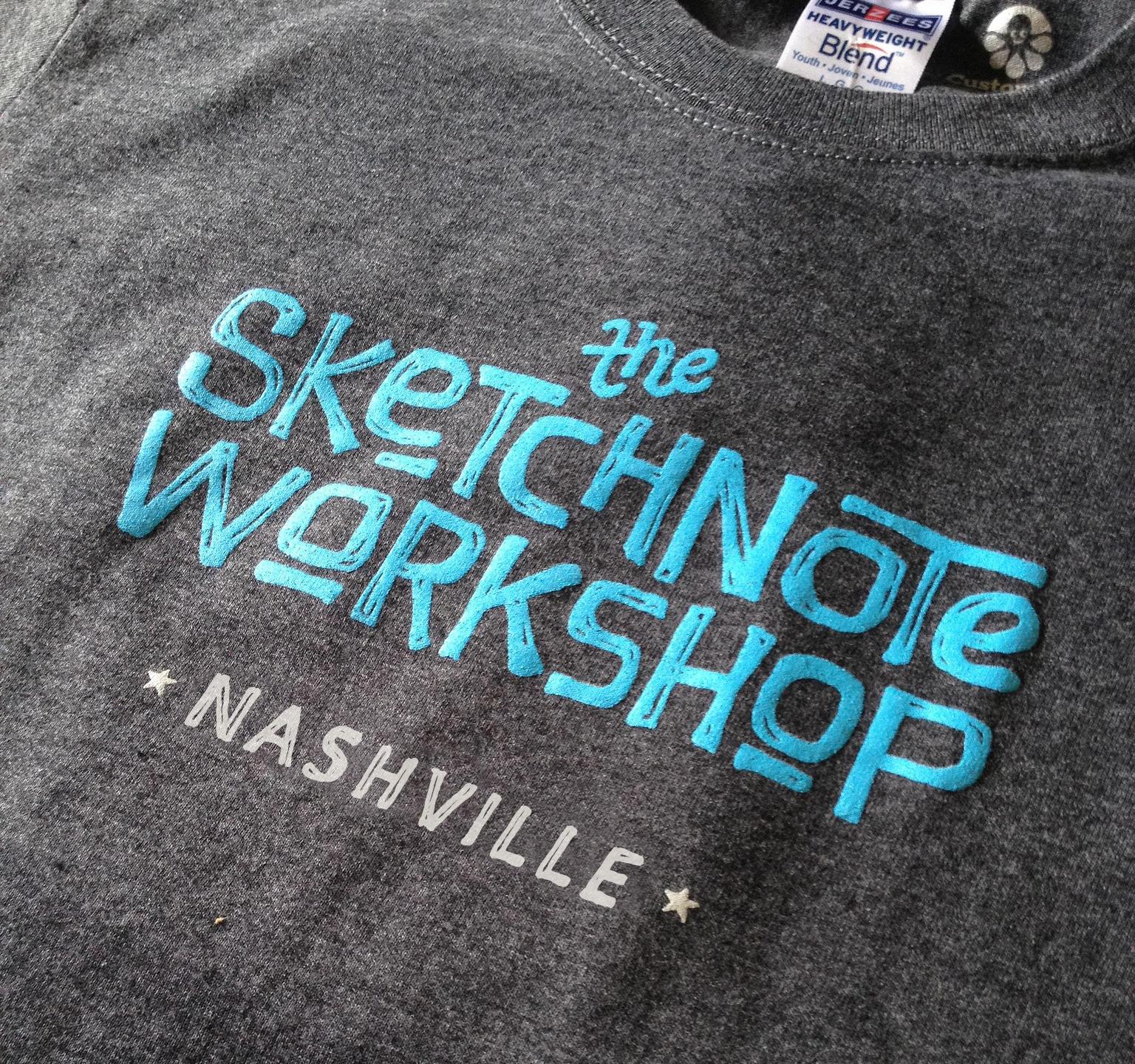 The Sketchnote Workshop Nashville t-shirt