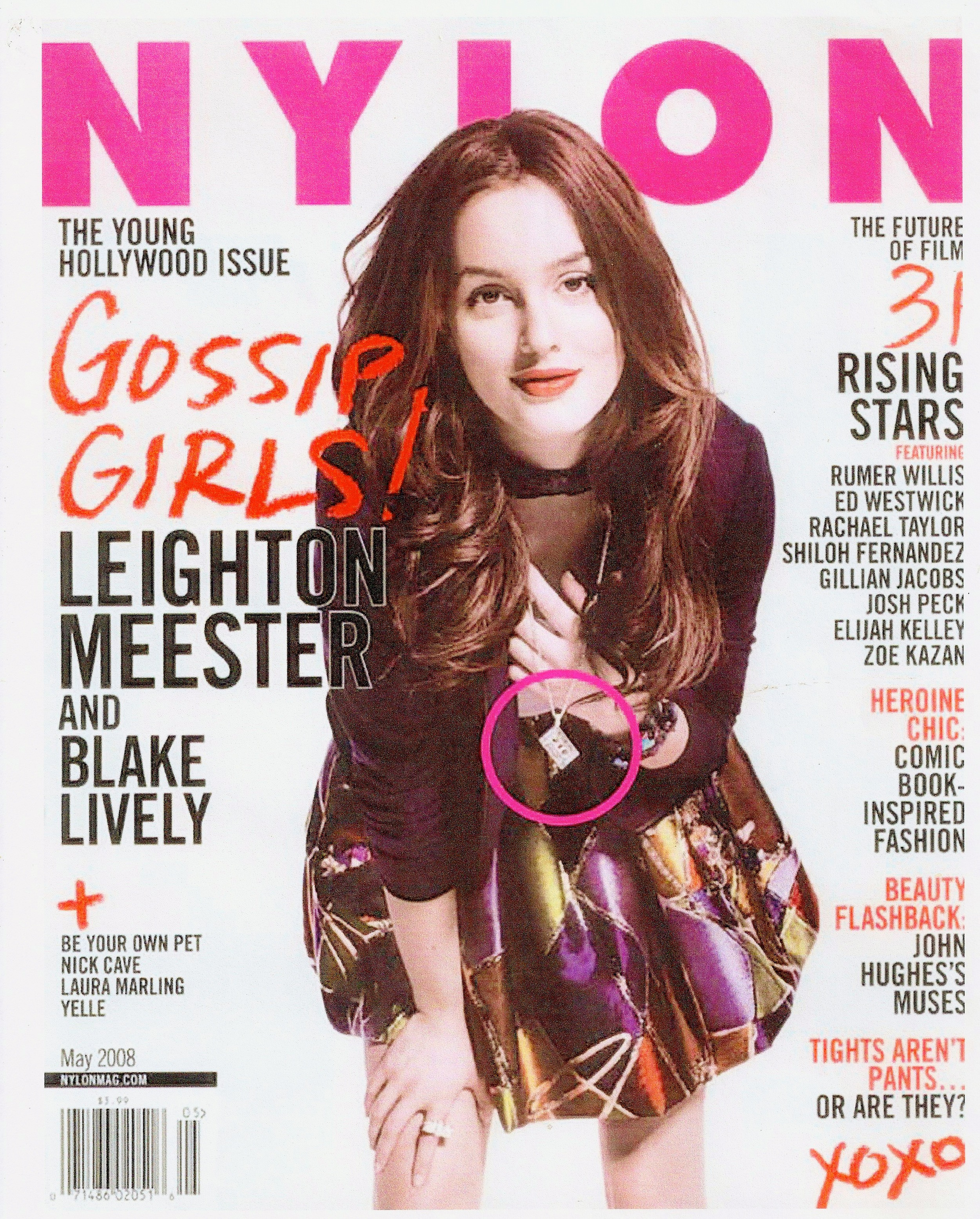 Nylon Magazine with Leighton Meester wearing Nylon Jewelry