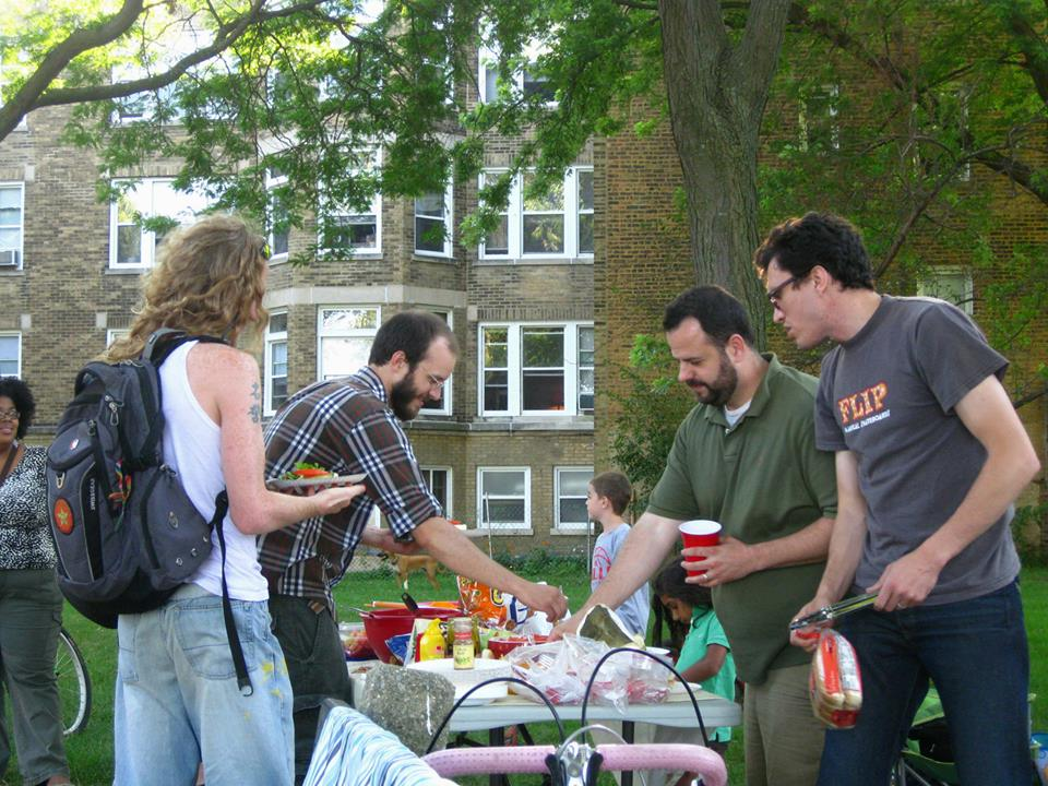 One Root Group hosted a free beach cookout to people stopping by at Pratt Beach.