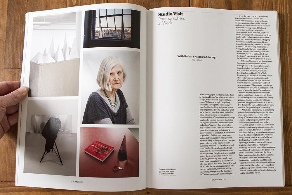 Barbara Kasten for Aperture Magazine