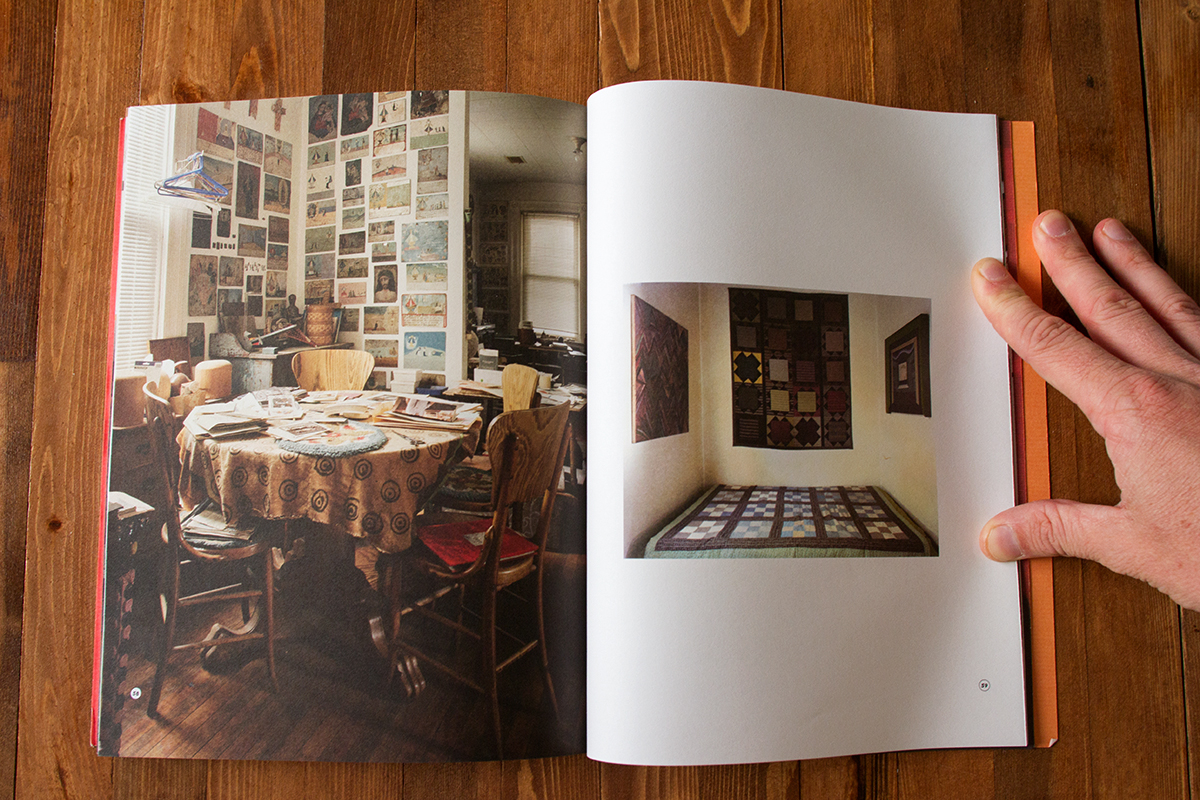 Photographs included the book 'Ray Yoshida,' published by the School of the Art Institute of Chicago