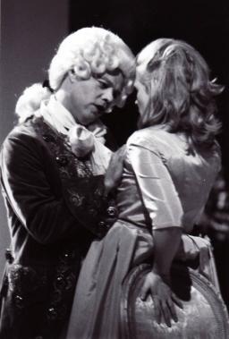 Sade confronts Pelagie, Madame de Sade, played by Phoebe MacRae
