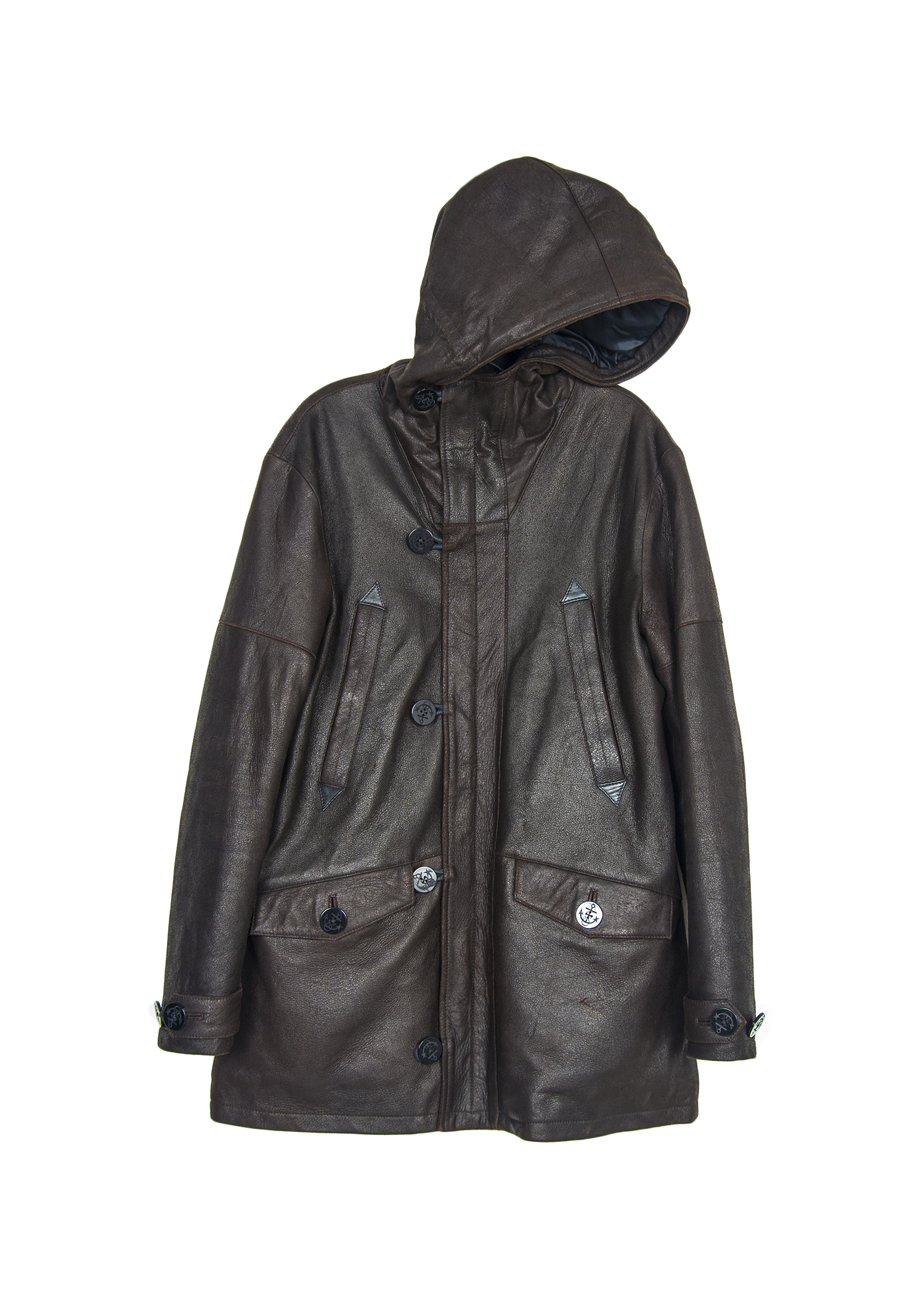 "40/42 ARMANI LEATHER DUFFEL COAT ""ARMANI-LJKT05"""