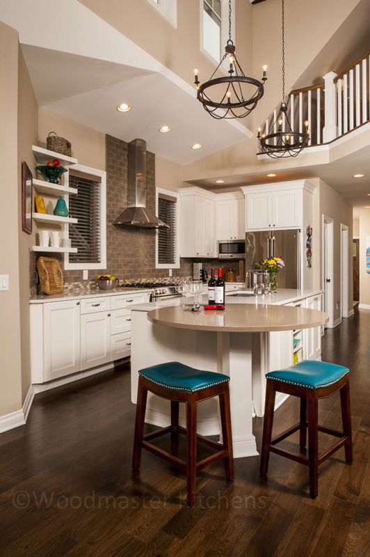 Kitchen design showing clearance around the island and appliances