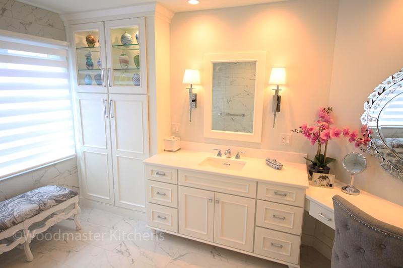 White master bathroom design.