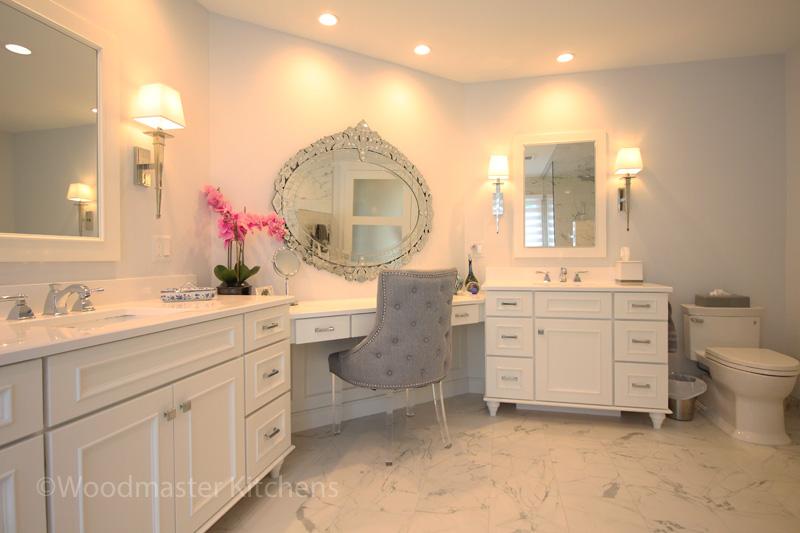 Elegant integrated makeup vanity