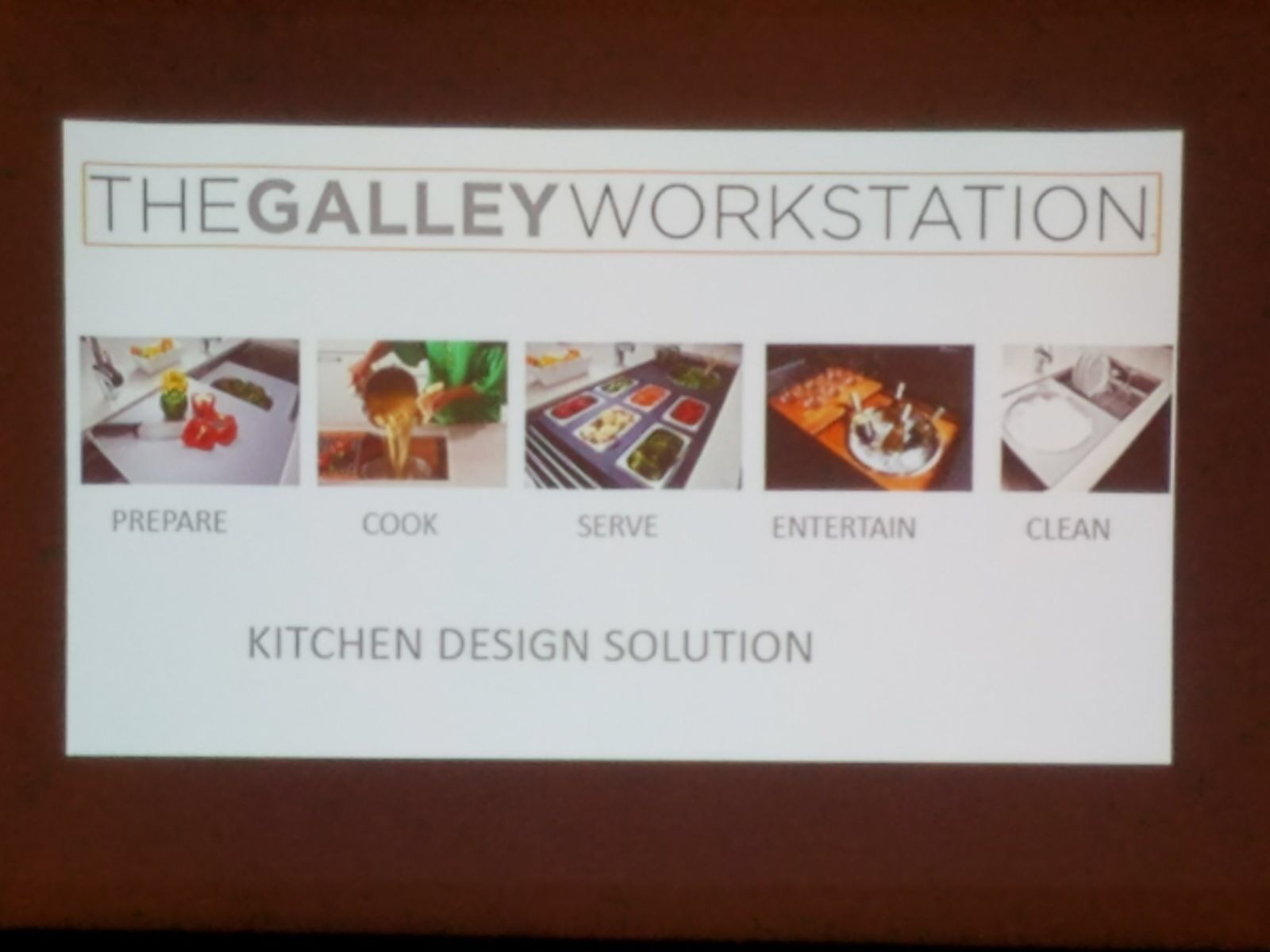 Galley Workstation presentation at SEN Fall 2017 Conference