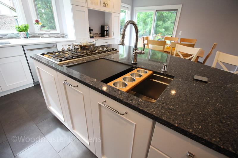 Kitchen design with Galley Workstation
