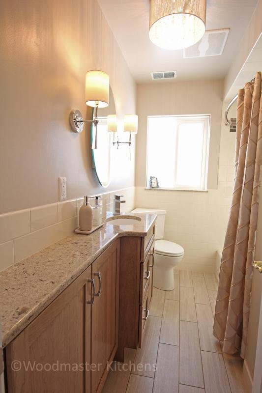 Narrow bathroom design