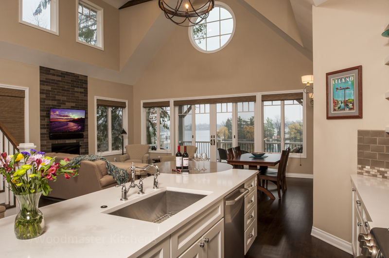 kitchen design with high ceiling