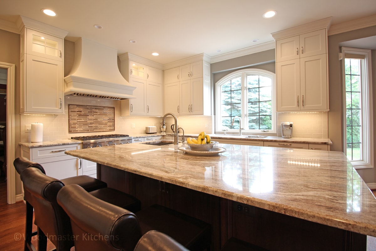 Kitchen design with multi-layered lighting
