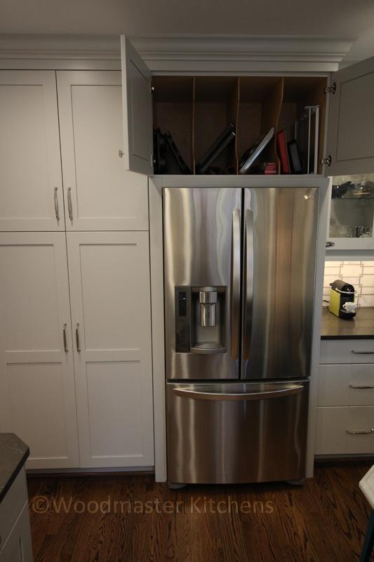 kitchen storage with tray divider