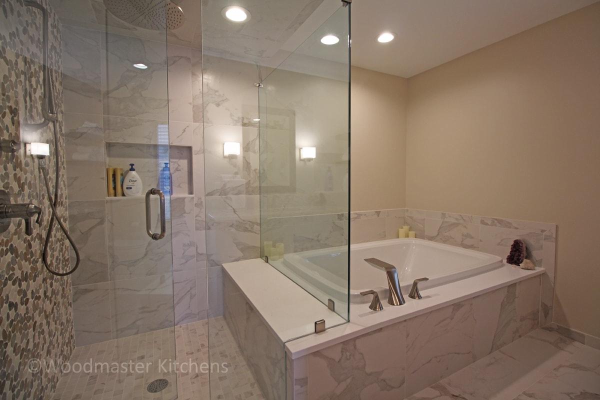 spa style shower design