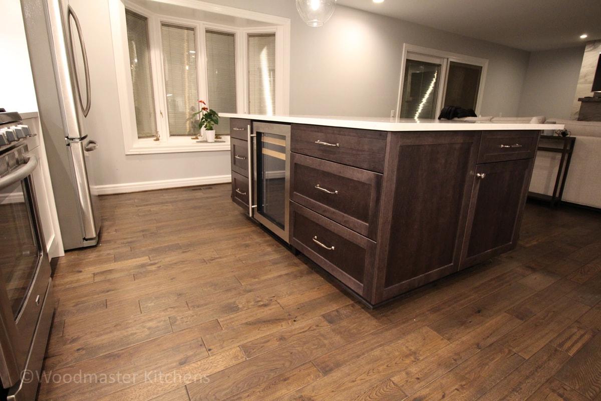 kitchen design with hardwood floors