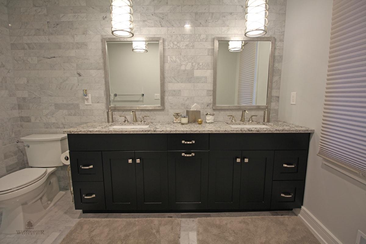 black finish vanity cabinet