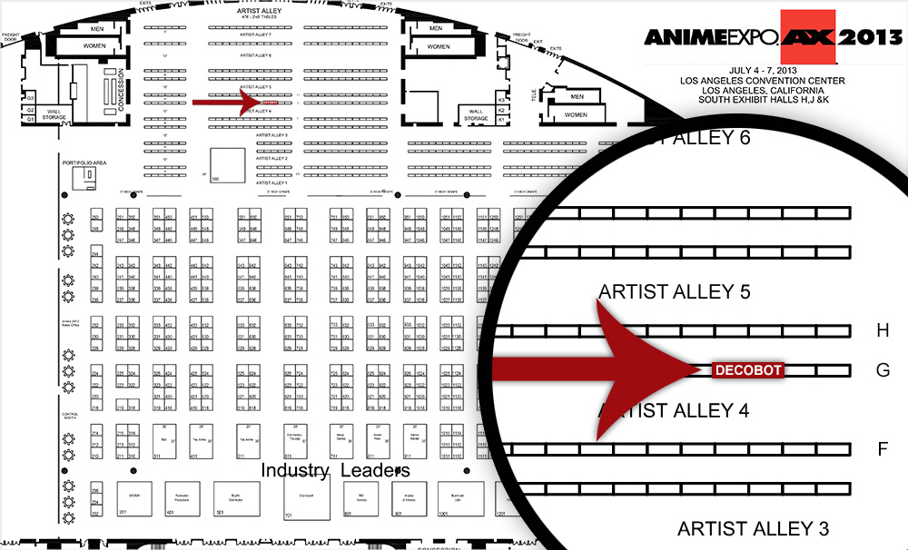 Map of Decobot at Anime Expo 2013