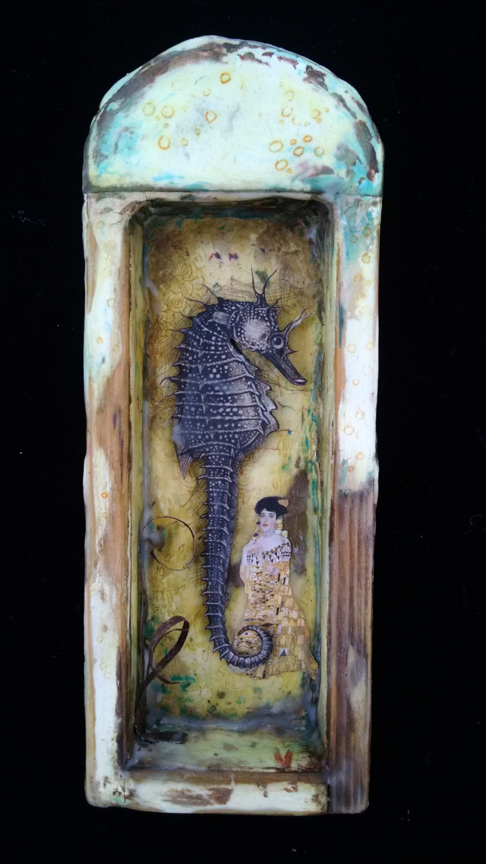 Assemblage with Plaster and Wax