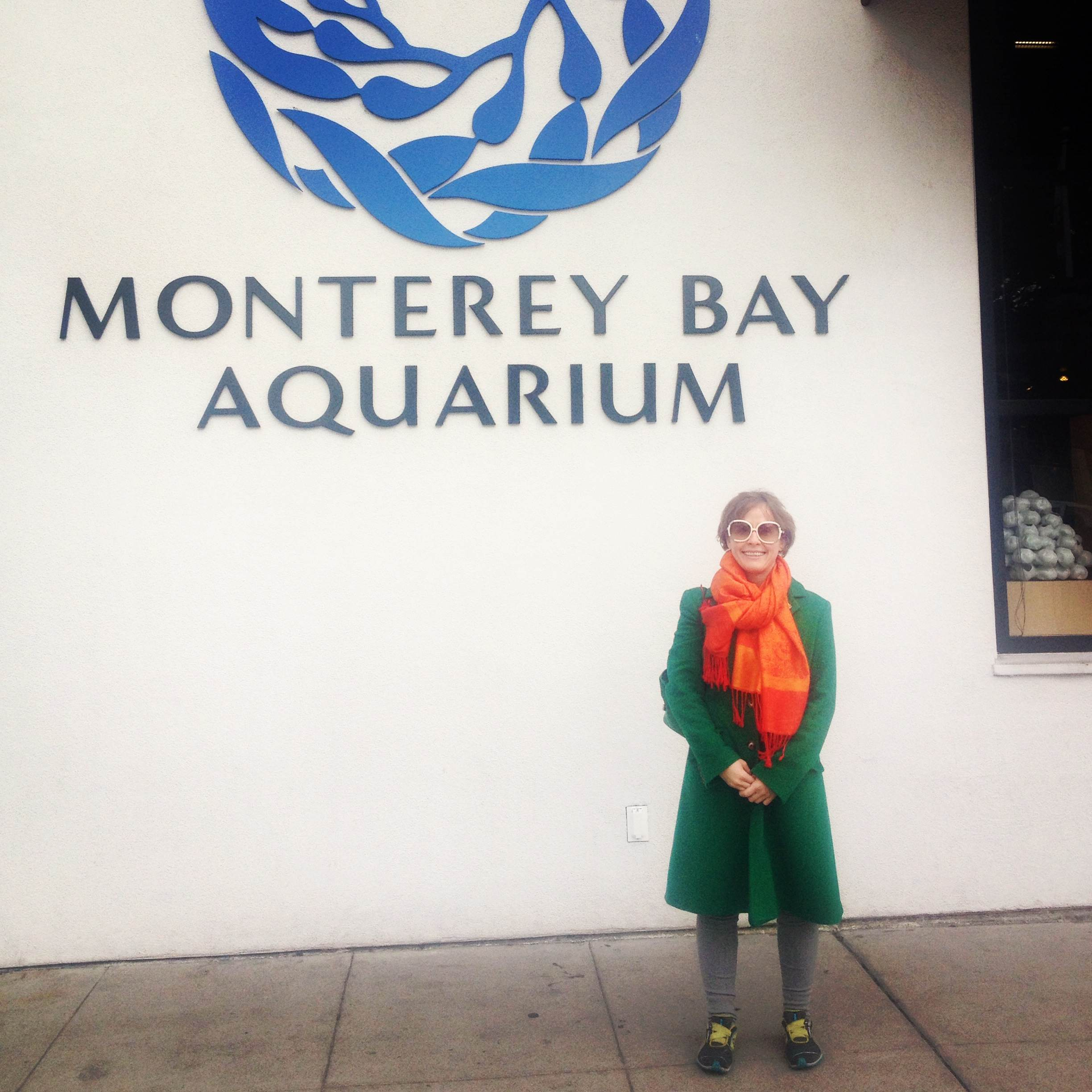 Happy to be at the Monterey Bay Aquarium