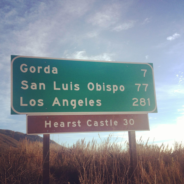 On the way to San Luis Obispo