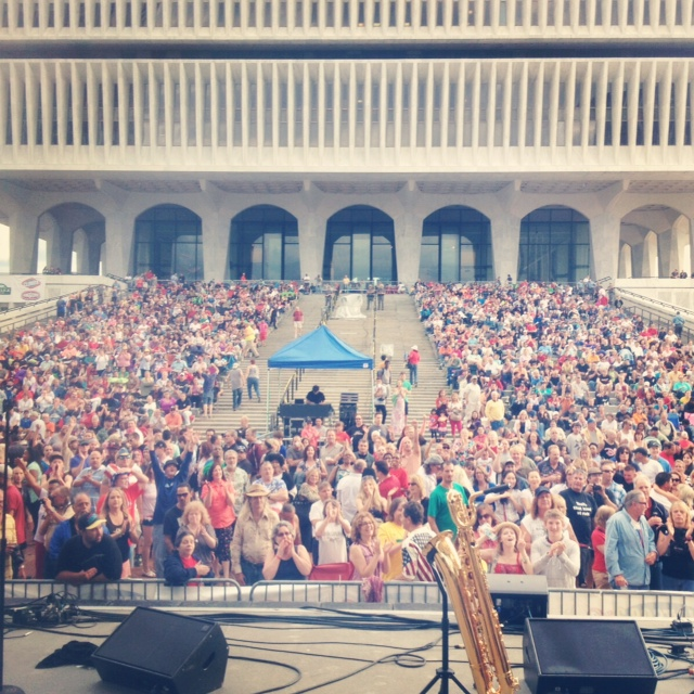 4th of July 2014 in Albany, NY with GEDEON LUKE. Playing the this many people makes my heart so happy.