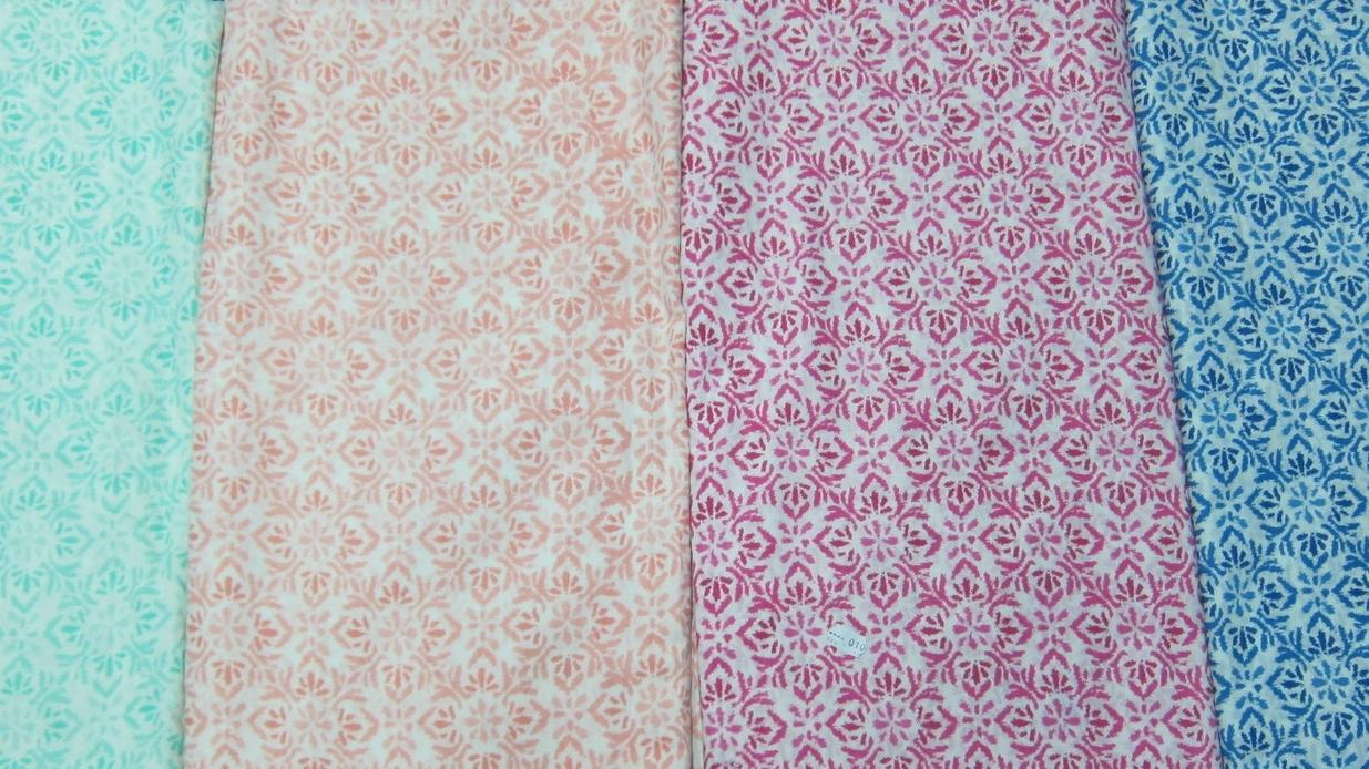 Our rangoli fabrics!