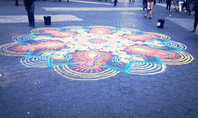 Rangoli design we stumbled upon in Union Square, NYC.