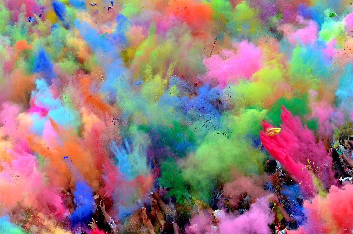 Holi festival celebration!