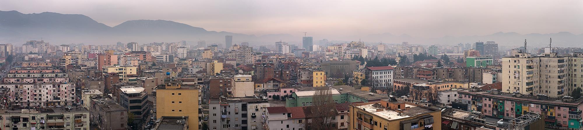 Tirane, the capitol of Albania