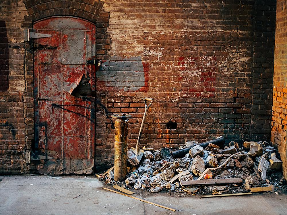 Factory Door in Greenpoint Brooklyn