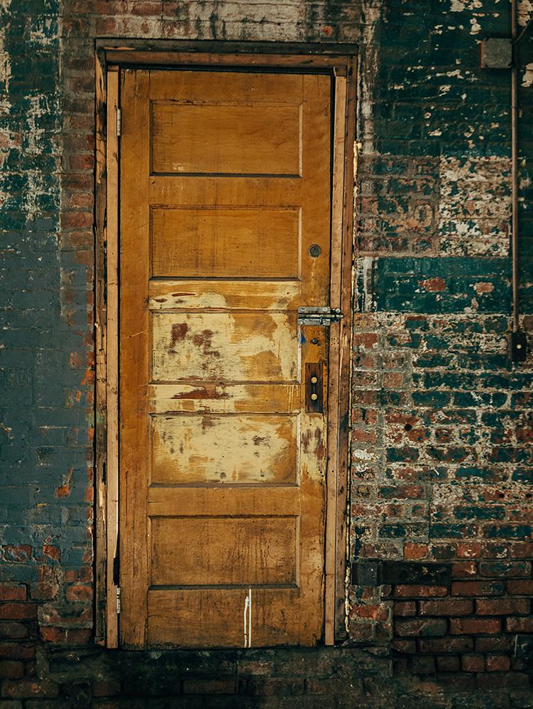 Yellow Factory Door