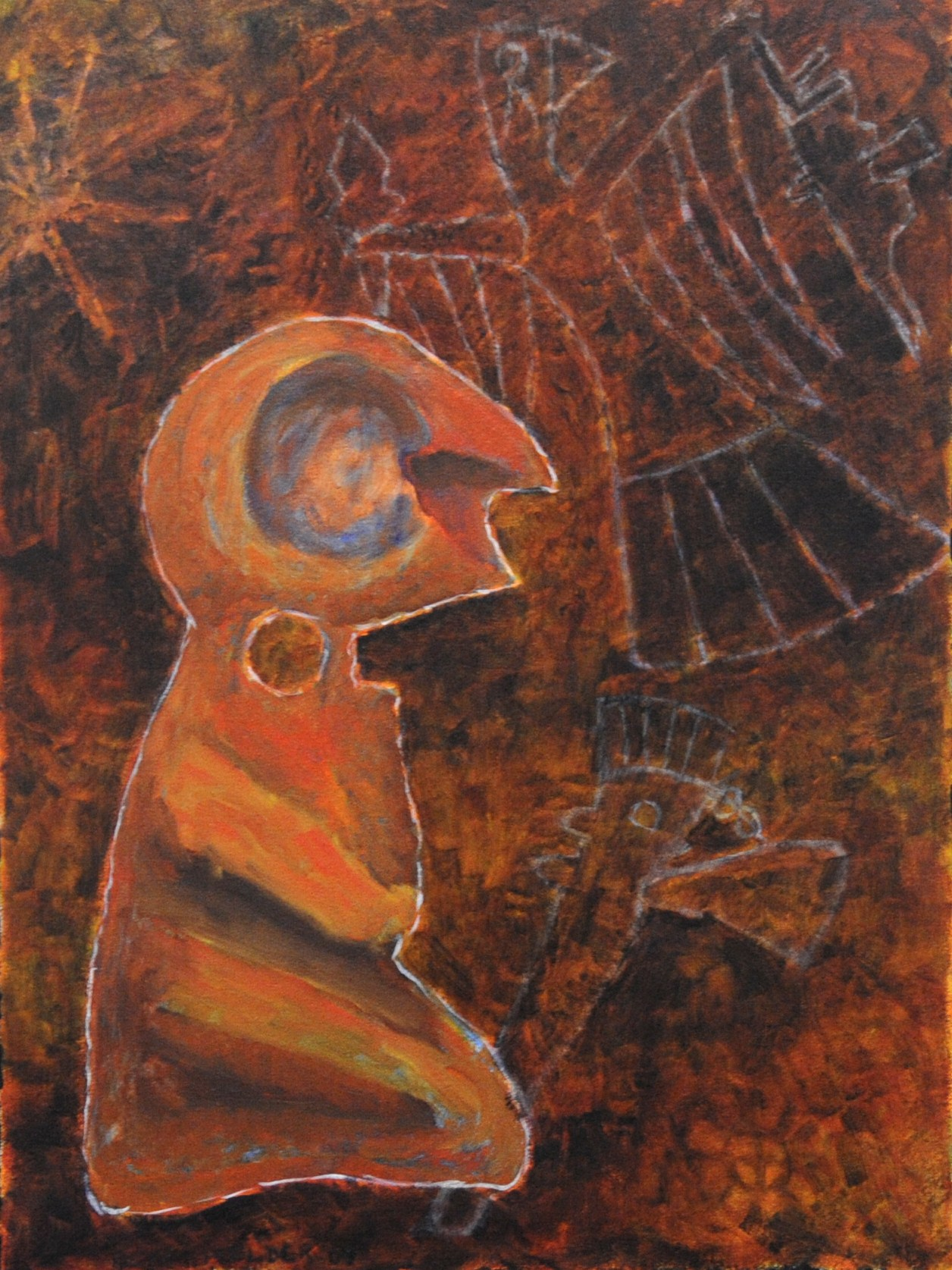 Bird-Man Bone Artifact