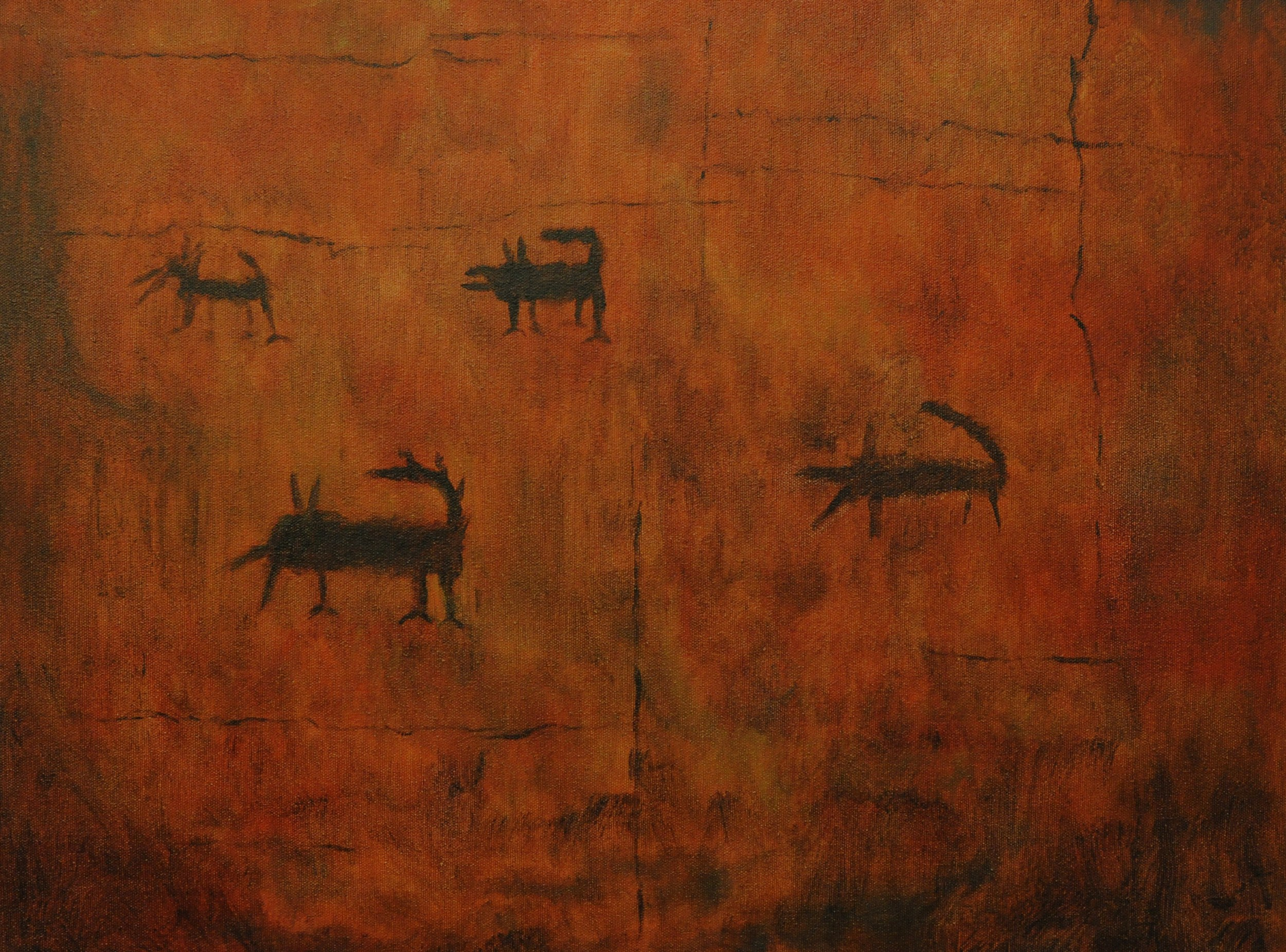 Prehistoric Cave Art, Tennessee, Ca 1300 AD
