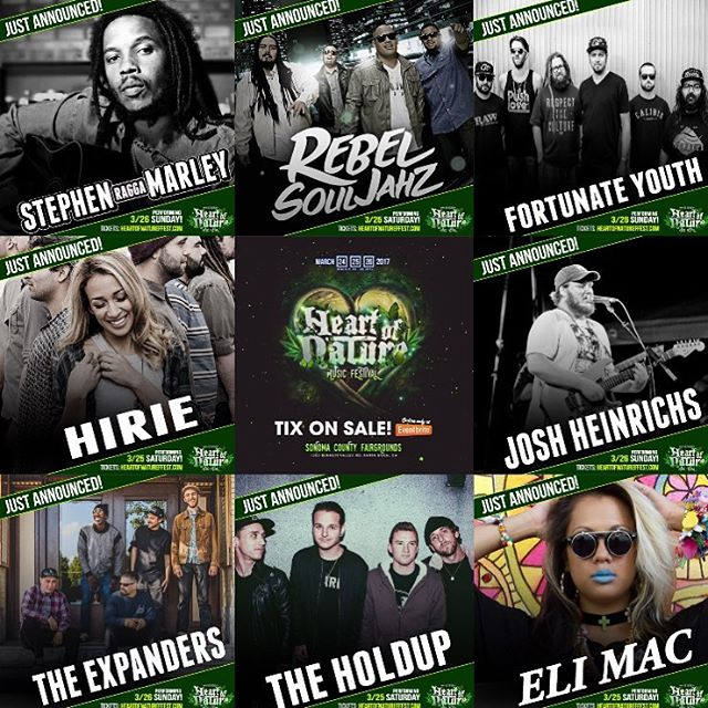 Check out this line up @hempcon has coming March 24-26th for Heart of Nature Festival at the Sonoma County Fairgrounds in Santa Rosa CA!!!! . . . Make sure you follow @hempcon for all event posts and info. . . . Tickets can be purchased at: Www.hempcon.com