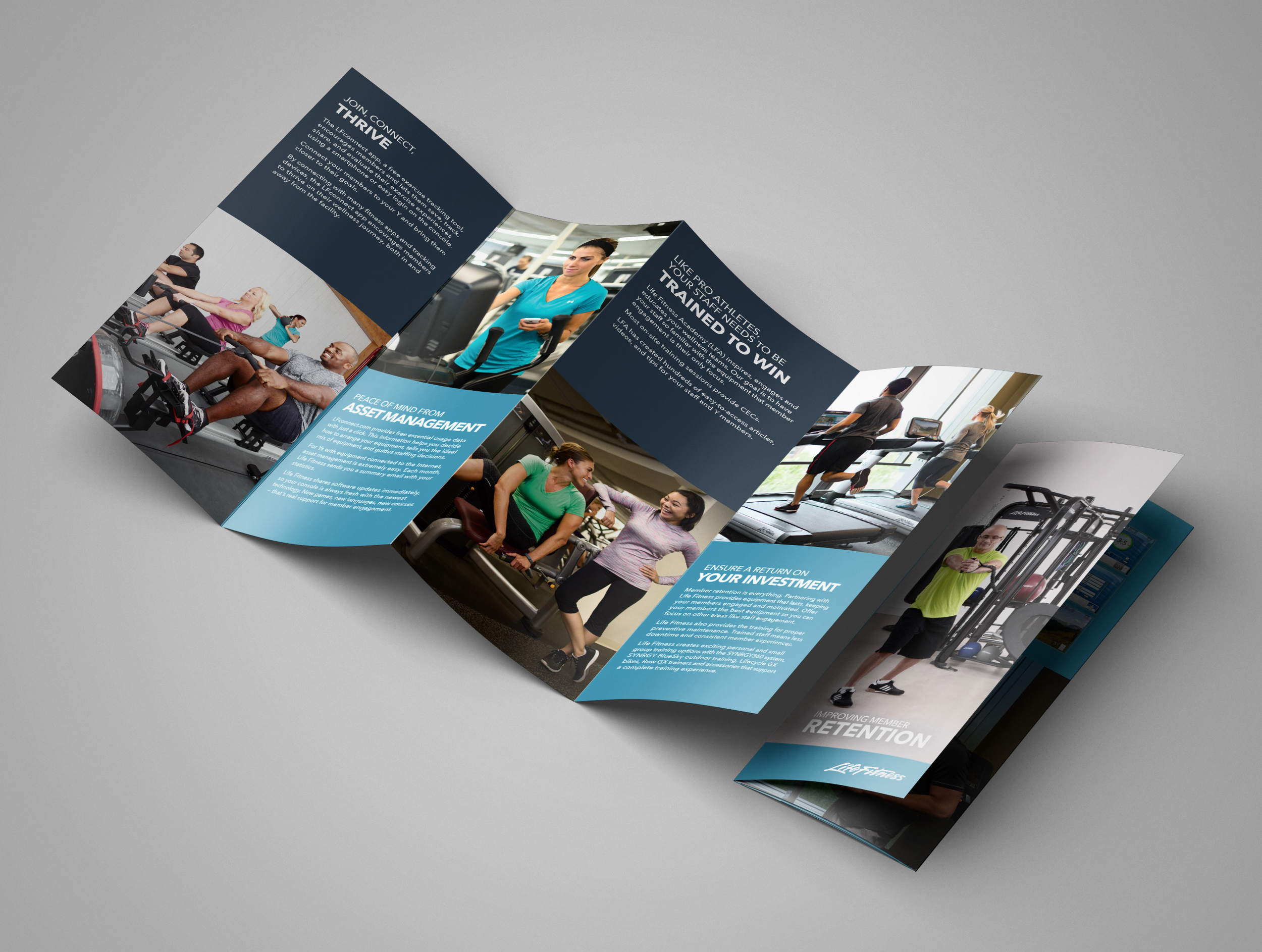 Member Retention Brochure  | 8-panel resource brochure for current patrons. | Client:  Life Fitness  | December 2015