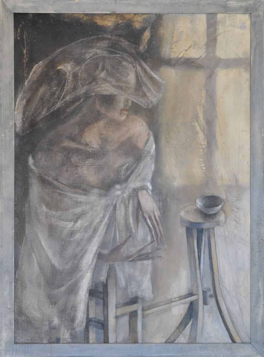V.F. 1986.110 x 90. Canvas, acrylic, oil.