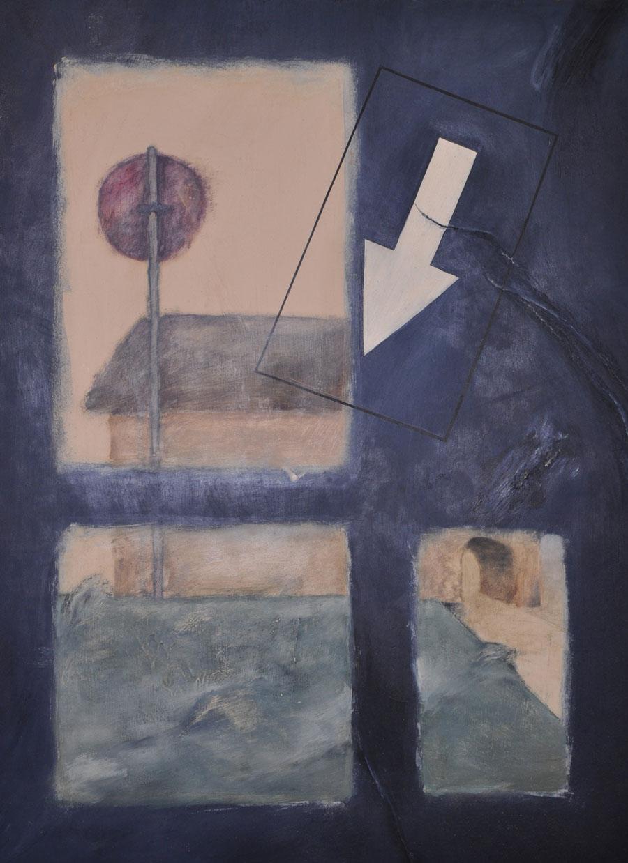V.F. 1986. 120 x 80. Cardboard, oil.