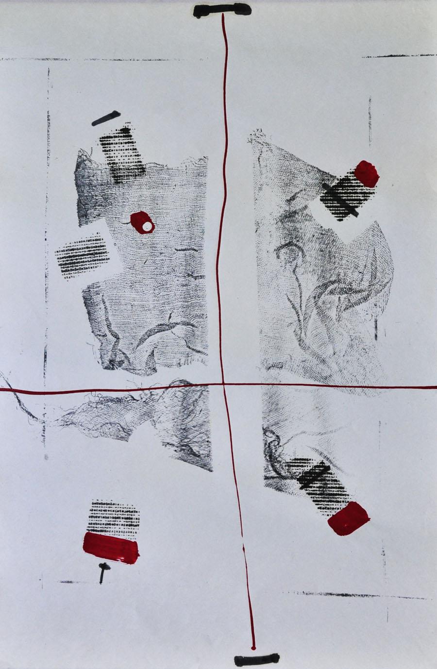 V.F. 1987. 40 x 55. Paper, oil,lacquer.