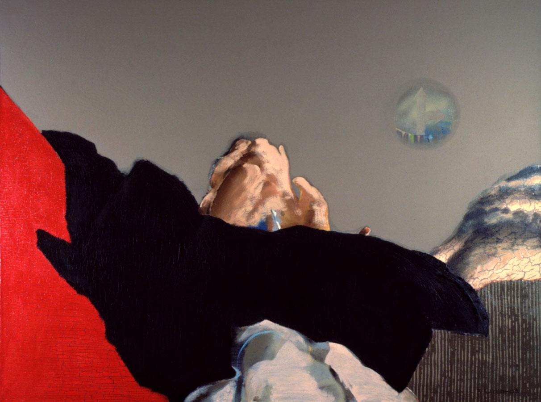 V.F. 1991. 120 x 160. Canvas, acrylic, oil.