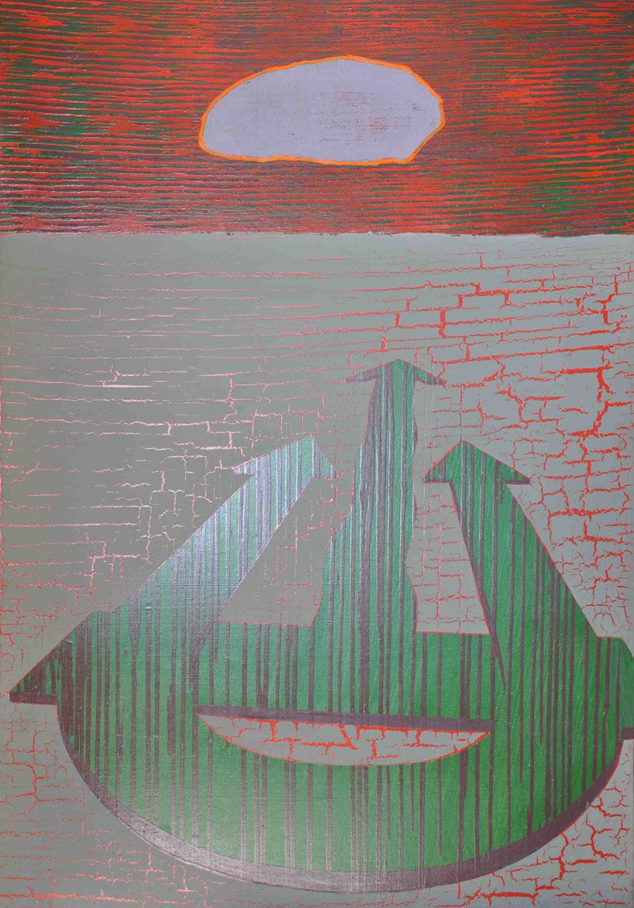 V.F. 1992. 120 x 90. Canvas, acrylic, oil.
