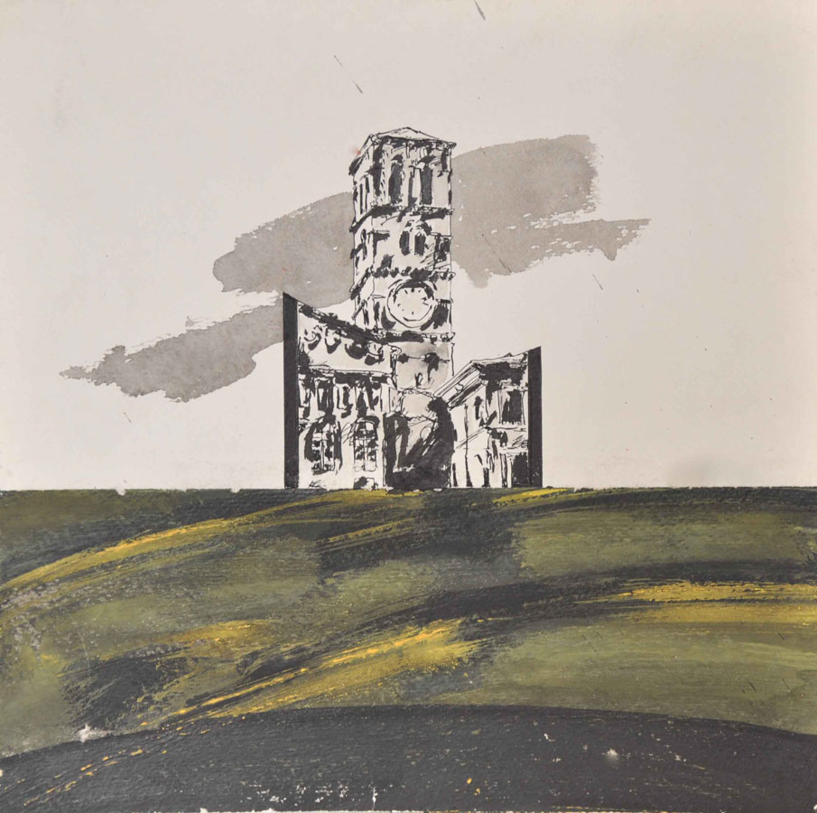 V.F. 1997. 40 x 40. Paper,ink,acrylic.