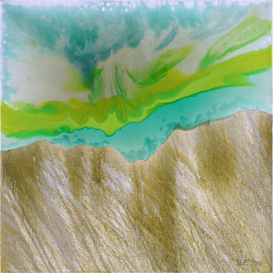 V.F. 2015. 70  x 70  . Canvas, acryl, polymer resin
