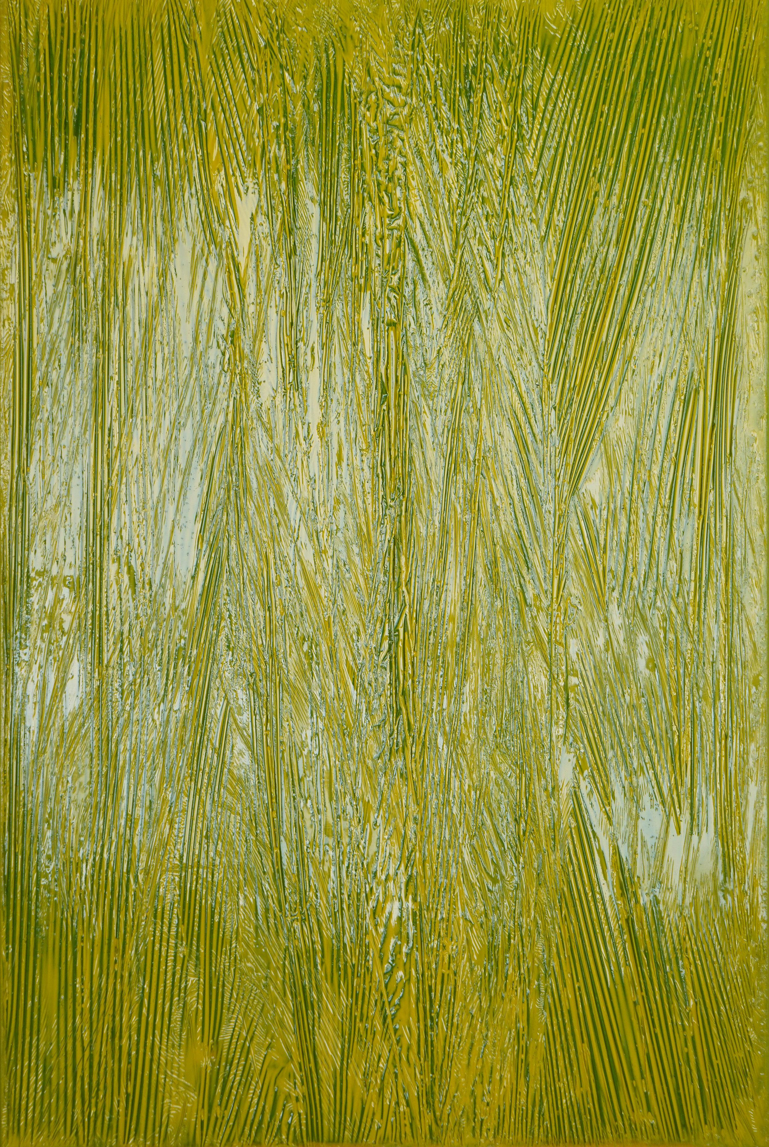 Синтетический пейзаж №1. 2019. Xолст, полимерная смола. 100х70см