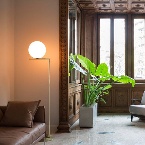 Human scale. (IC Floor Lamp By  Michael Anastassiades  for  FLOS )