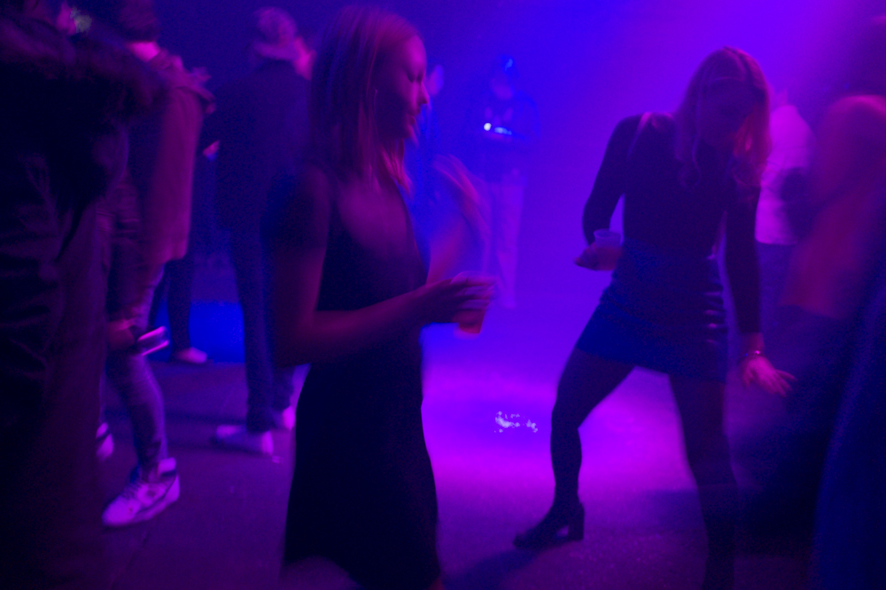 These crazy dancing chicks at this party