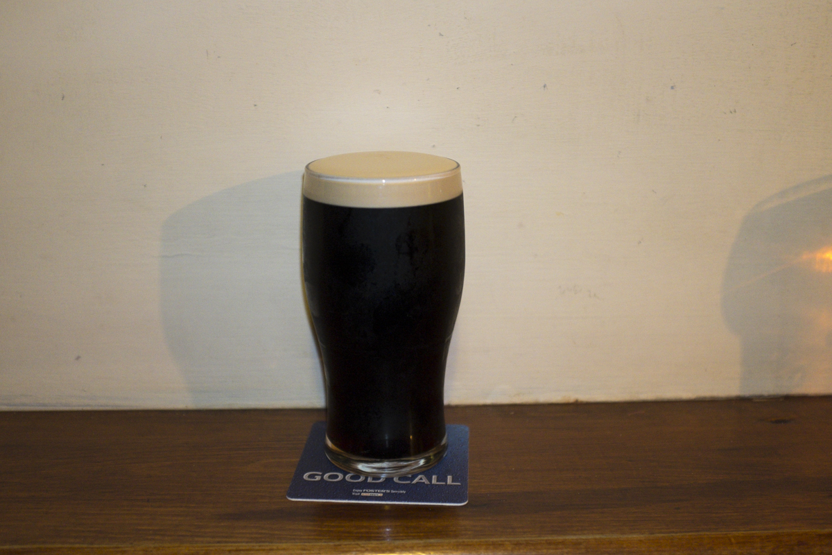 Yea, I mostly drank Guinness while in Ireland. Just made the most sense, I never used to like it soo much but I think primarily it was because it doesn't travel so well to the states. Here it was extremely smooth and creamy, and not too heavy either.