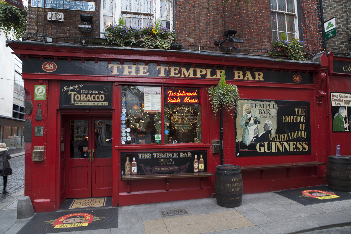 "The veritable ""Temple Bar"" itself."