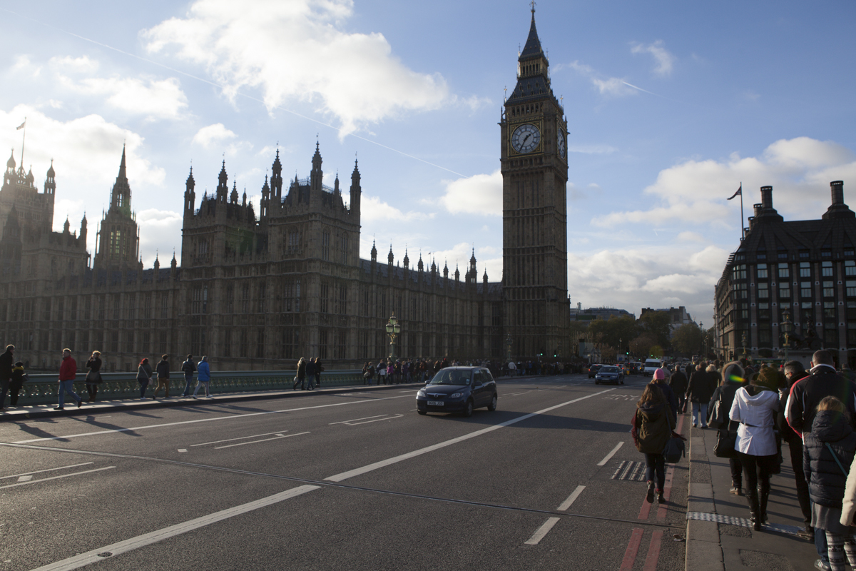 That's Big Ben and Parliament on the left.