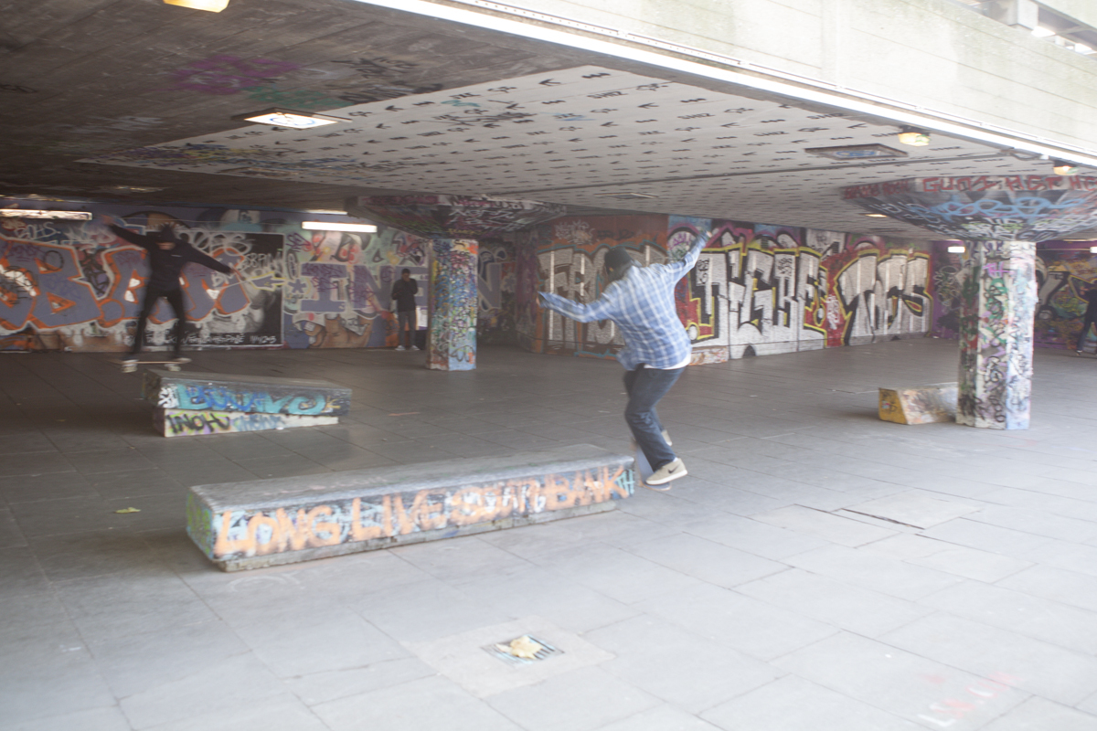 Underneath the roadway above the South Bank theres a skate park that kids frequent. Apparently the city is trying to take it out but they were signing petitions to leave it up. It's been around for 20+ years.