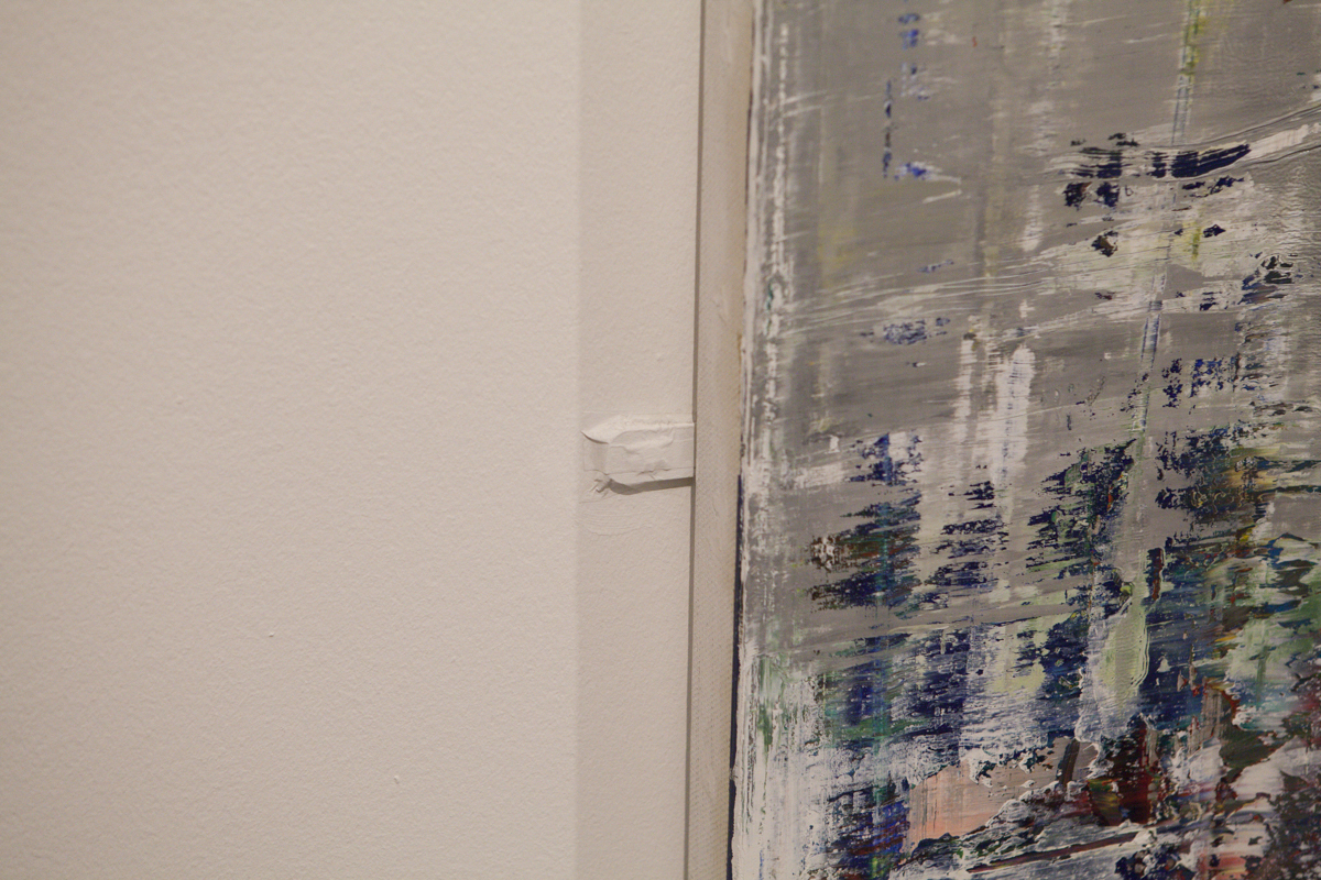 Gerhard Richter again. Bad deal here though. They decided to tape down the ozclips instead of removing them. What kind of preparation is that, Tate?