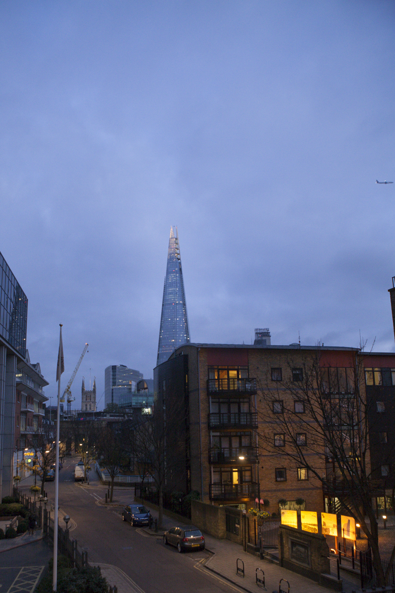 Also came across this on the way home. A new building, referred to as the Shard - lots of glass, now apparently the tallest building in London.